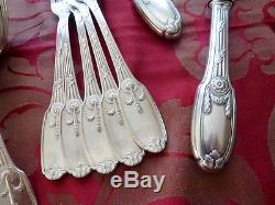 Christofle Antique Silver-plated Delafosse Rare Flatware Set
