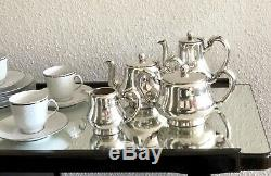 Christofle Antique Silverplated Art Deco Coffee & Tea Set 4 Pcs