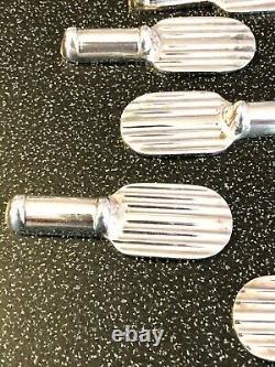 Christofle Art Deco Silverplated Knife Rest Set 12 Pcs By Luc Lanel'raquette