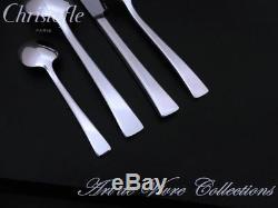 Christofle CONCORDE 12 place settings, 49 pieces Flatware Table Dinner set, RARE