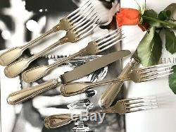 Christofle Chinon Silverplated Flatware Set 49 Pcs 12 People Excellent