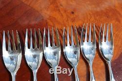 Christofle DUO Silver Plated 24 pieces Set in 6 settings Modern Pattern