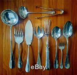 Christofle Fidelio Table Set Flatware Silver Plate Clasic Style Baguette, 154pc
