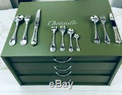 Christofle Flatware 127 Pcs Louis XV Rubans 12 Pers table Dinner set Top