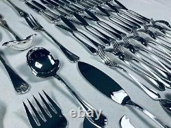 Christofle Flatware Dinner Set SPATOURS Louis XV 12 Pers Box 119 pcs Perfect