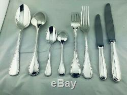 Christofle Flatware PERLES Table Dinner set perfect 61 pcs 12 Pers + Box