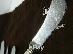 Christofle France Jardin d'Eden Collection 30pc Silver Flatware Set REAIL £4000+