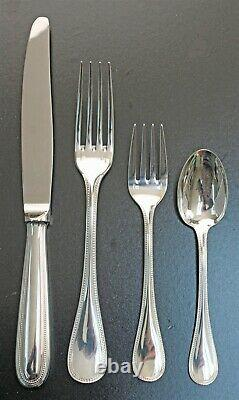 Christofle France PERLES Silver Plated Place Settings UNUSED