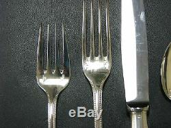 Christofle France Silverplate 1890 Flatware PERLES 4 pc PLACE SETTING