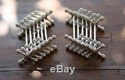Christofle French silverplate Set of 12 knife rests boules Large model