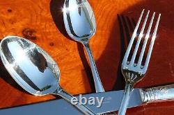 Christofle Malmaison Silver Plated 24 Pieces Flatware Set for Six
