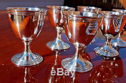 Christofle Malmaison Silver Plated Egg cups and Egg Spoons Set of SIX