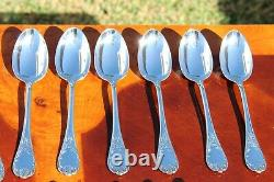 Christofle Marly Silver Plated 24 Pieces Flatware Set in Six Settings