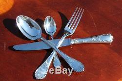 Christofle Marly Silver Plated Flatware 24 Pcs in 6 Settings