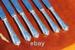 Christofle Marly Silver plated Dessert Knives Set of SIX