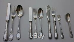 Christofle Marly Silverplate Flatware Set For 12, 120 Pieces France