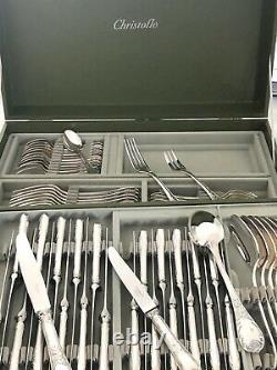 Christofle Marly Silverplated Flatware Set 72 Pc/12 People Excellent In Org Box