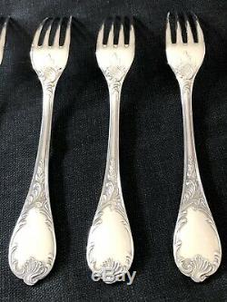 Christofle Marly Silverplated Large Forks Set Of 6