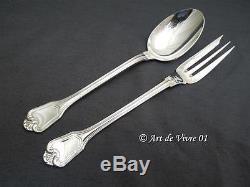 Christofle PORT ROYAL Server Set Fork & Spoon, Couvert de Service 25cm MINT