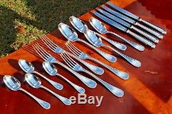 Christofle Perles Silver plated 16 Pieces Set in 4 Settings