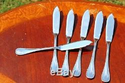Christofle Perles Silver plated Fish Knives Set of Six