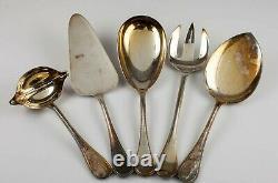 Christofle Perles Silverplate Flatware Set 56 Pieces Nice Set