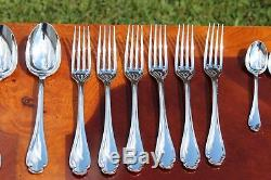 Christofle Pompadour Silver Plated Flatware 24 Pcs Set in SIX Settings