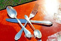 Christofle Pompadour Silver Plated Flatware 48 Pcs Set in 12 Settings