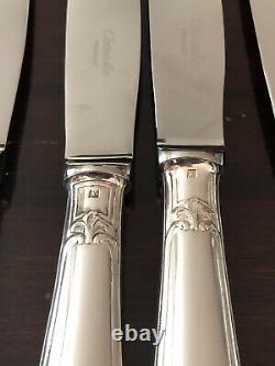 Christofle Pompadour Silverplated Flatware Set 24 Pc/ 6 People Excellent