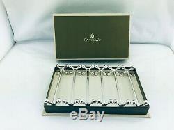 Christofle Silver Plate Knife Rests set Boules Pattern 6 pcs + Box Perfect