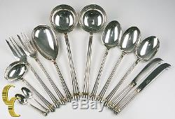 Christofle Silverplate Flatware Set in Aria Pattern, 160 Pieces Total, Great