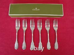 Christofle Vendome Arcantia Silver plated dessert forks Set of six