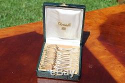 Christofle Versailles Silver Plated Demitasse Moka Espresso Spoons Set of Twelve