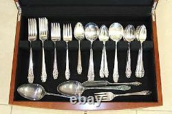 Community EVENING STAR Vintage Silver Plate Flatware Set for 12 1 fork missing