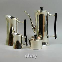 DANISH BERG DESIGNER SILVER PLATED FOUR PEICE COFFEE SET 1970's