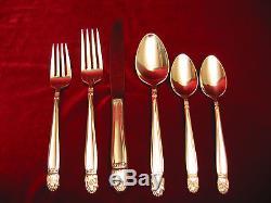 Danish Princess Silverplate Dinner Set & Chest Holmes Edwards Flatware 103pc Lot