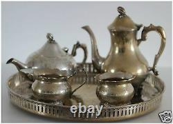 E. P. N. S Silver Plated Tea Set 5 Pieces Very Good Condition