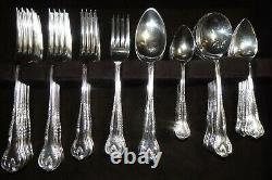 Eales Sheffield ASHLEIGH Silver Plate EPNS 81 Pc. Flatware Cutlery Canteen Set