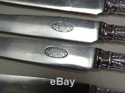 Elegant Ercuis Laurier Silverplated Flatware 110 pieces Set Anti-Tarnish Cloth