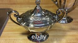Eternally Yours 1847 Rogers 1941 Silverplate Coffee Pot creamer sugar set