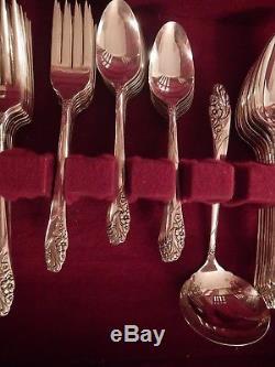 Evening Star Oneida silverplate flatware set for 8+ xtra tspns soup 7 serv pcs