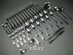 Exceptional Silverplate AP Axel Prip Danish Modernist Hammered Part Flatware Set