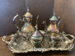 FB ROGERS silver plated tea set with tray