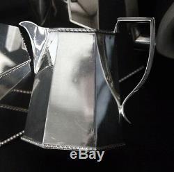 FOLGATE Silverplate Wood Handle Art Deco Coffee/Tea Set