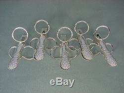French Christofle Silverplate Flatware Set Of 12 Asparagus Tongs