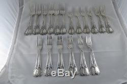 FRENCH CHRISTOFLE SILVERPLATE FLATWARE SET OF 144 PIECES, MARLY PATTERN