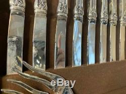 F. B FB Rogers Silverplate Flatware Case Silverware Set Silver Plate French Rose