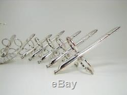 Fine French Set of 12 Christofle Asparagus Tongs & Serving Tongs