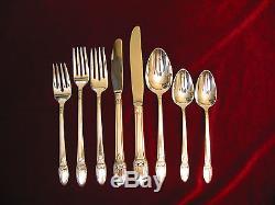 First Love Silverplate Dinner Set & Chest 1847 Rogers Flatware 105 piece Lot