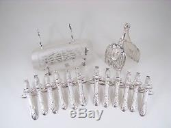 French Set of 12 Christofle Asparagus Tongs, Serving Tongs & Tray